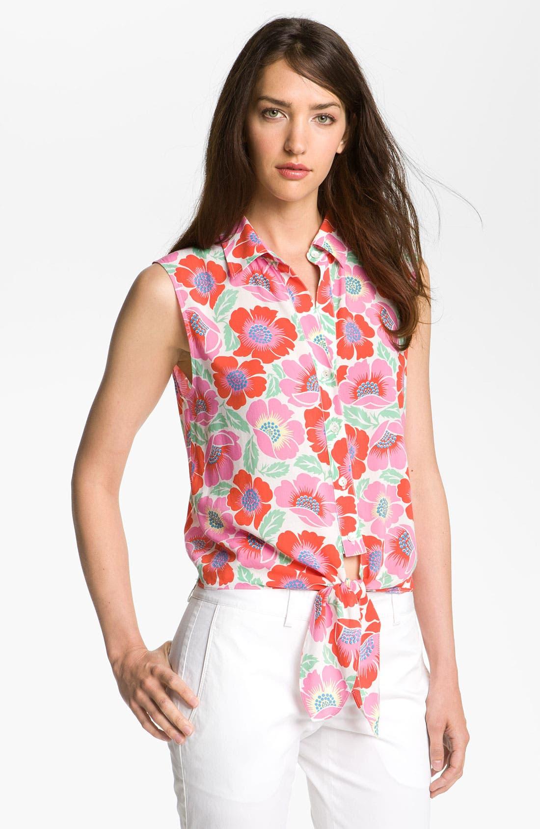 Alternate Image 1 Selected - Theory 'Michiko - Mauir' Print Shirt