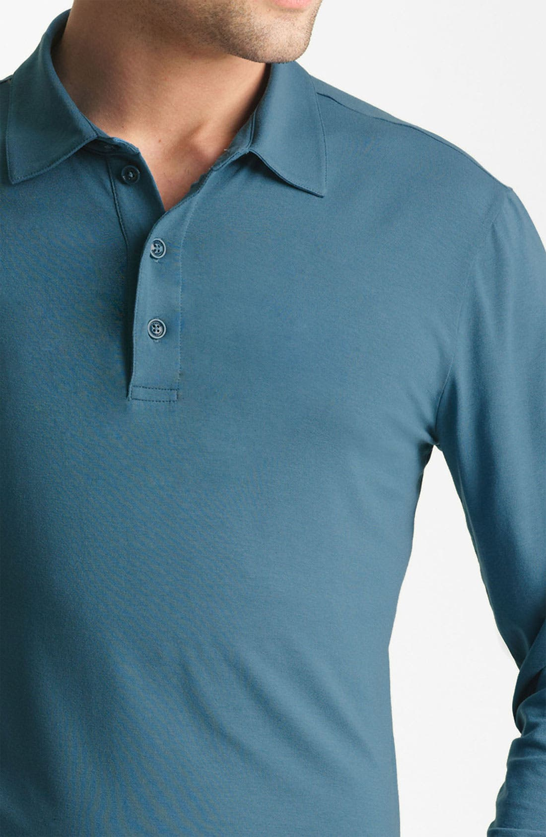 Alternate Image 3  - Armani Collezioni Long Sleeve Polo