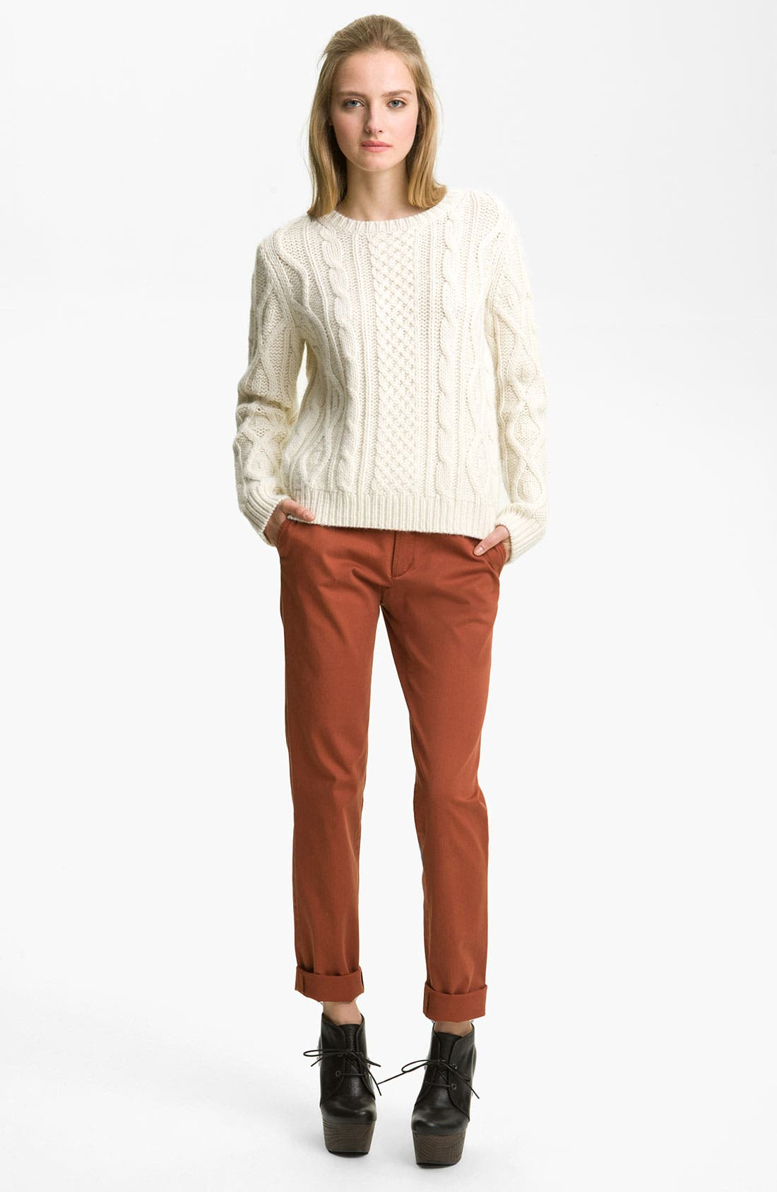 Alternate Image 1 Selected - A.P.C. Cable Knit Pullover Sweater