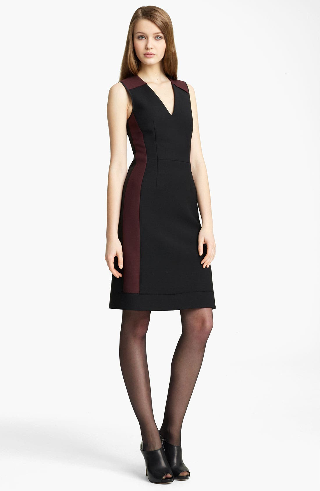 Main Image - Reed Krakoff Paneled Wool Blend Dress