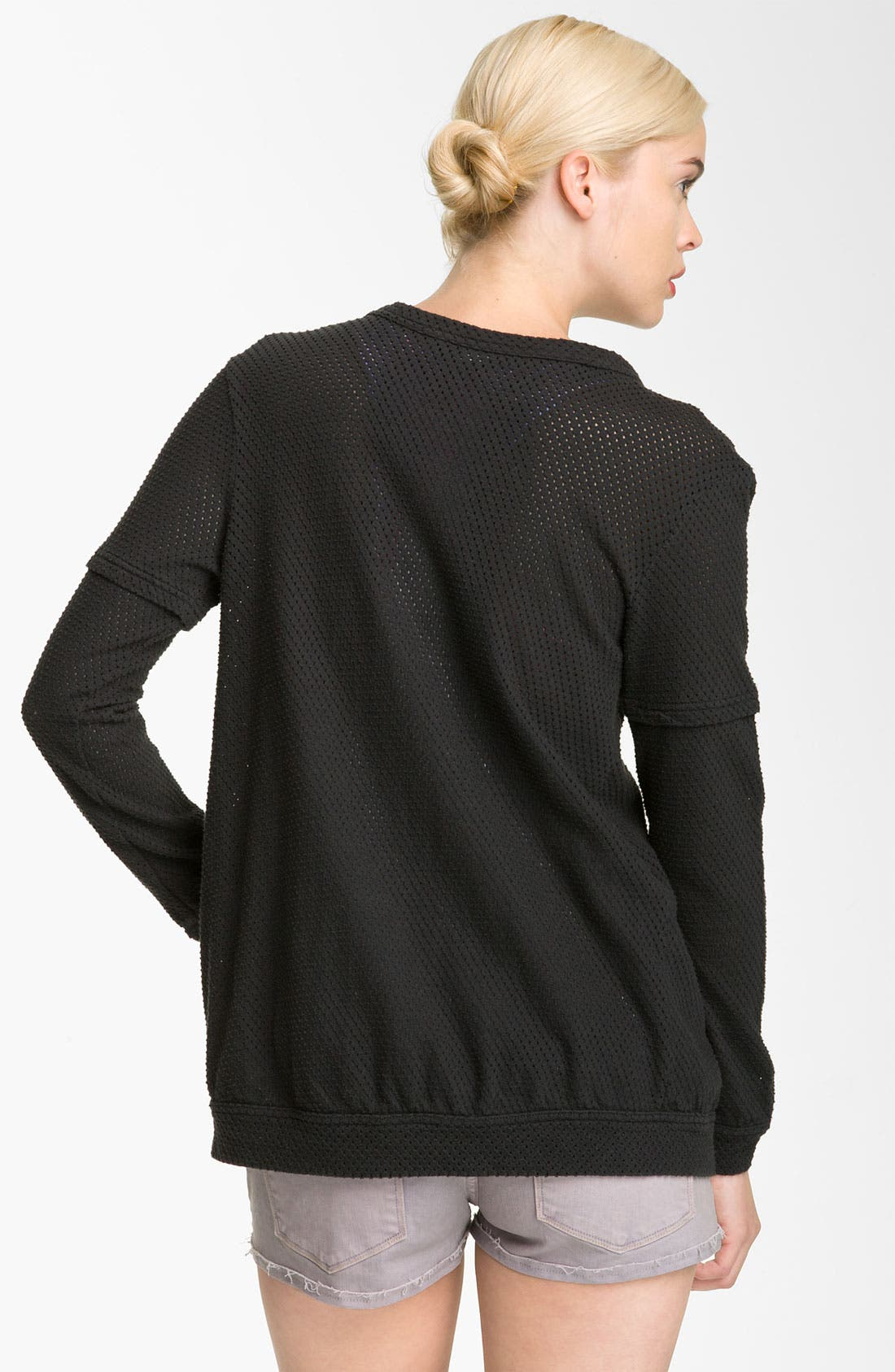 Alternate Image 2  - MARC BY MARC JACOBS Jersey Mesh Cardigan