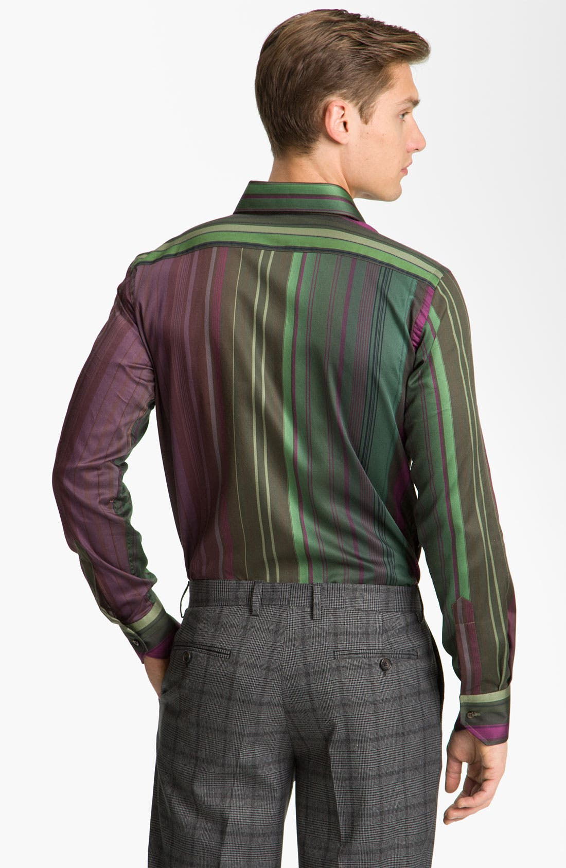 Alternate Image 2  - Etro Stripe Cotton Shirt