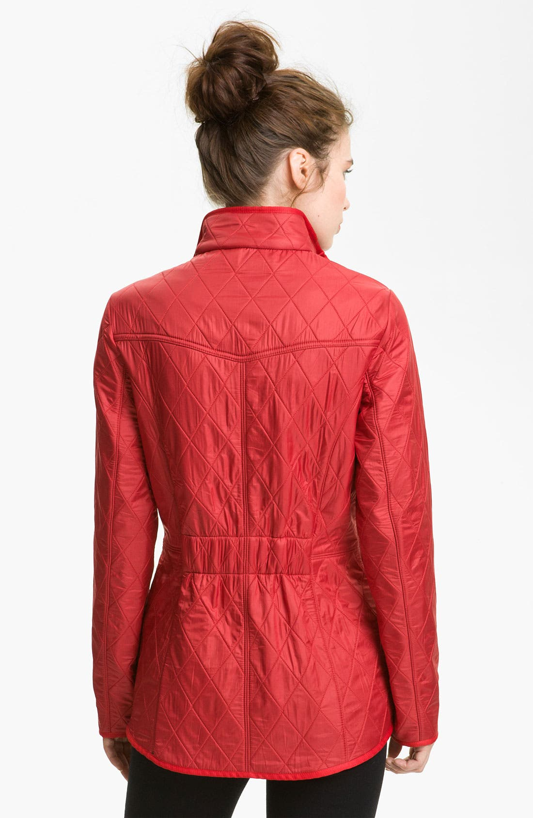 'Cavalry' Quilted Jacket,                             Alternate thumbnail 2, color,                             Red