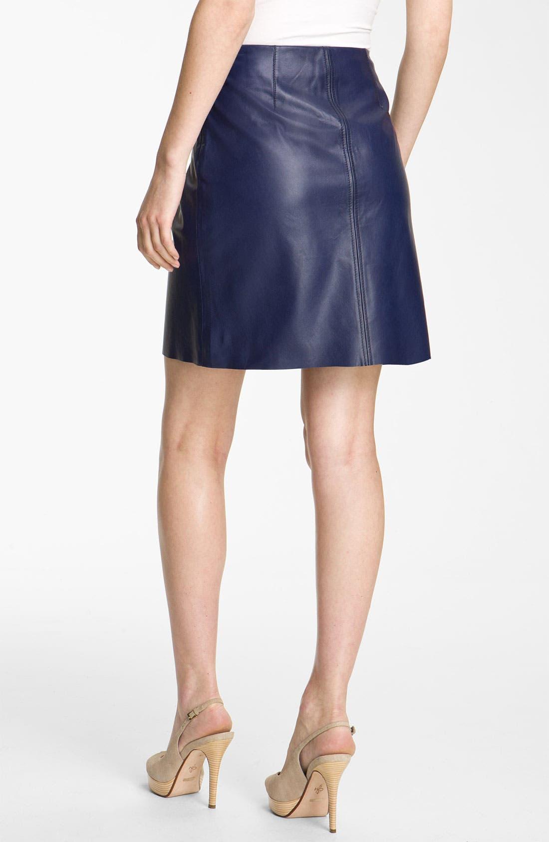Alternate Image 2  - Weekend Max Mara 'Affine' Leather Skirt