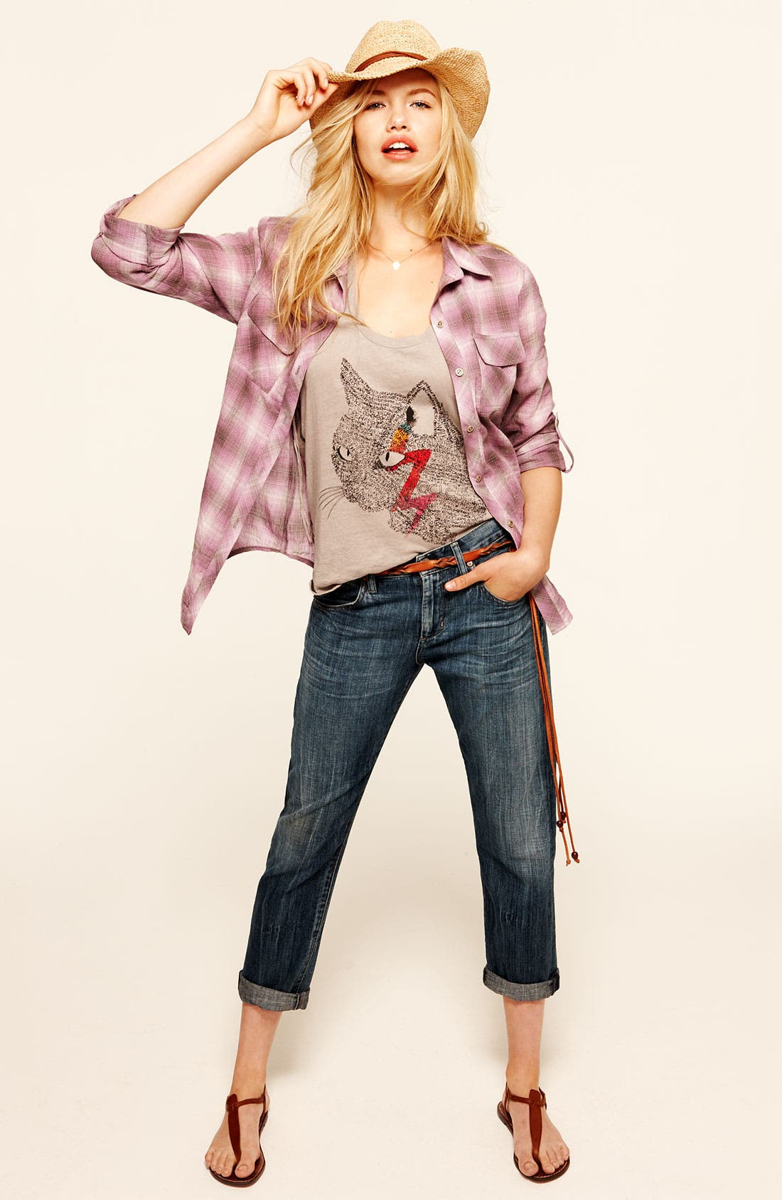 Alternate Image 5  - Citizens of Humanity 'Daisy' Crop Loose Fit Jeans (Plunge)