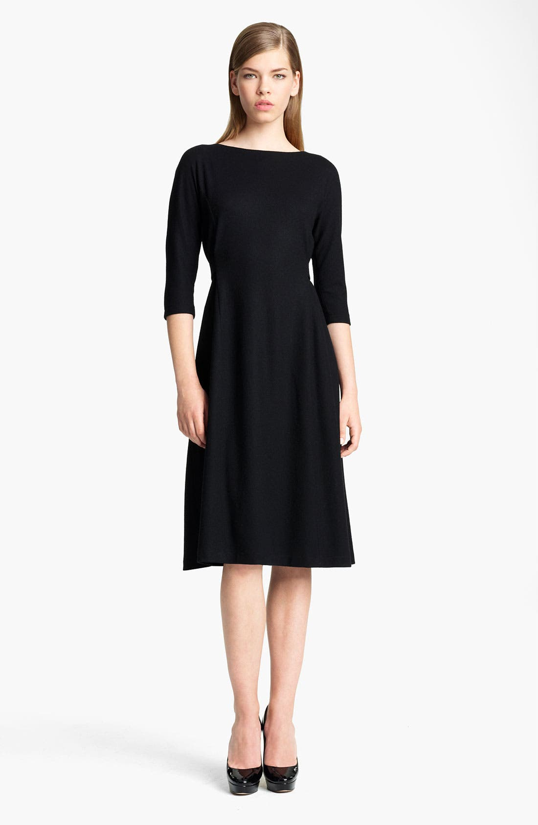 Main Image - Jil Sander Belted Wool Jersey Dress