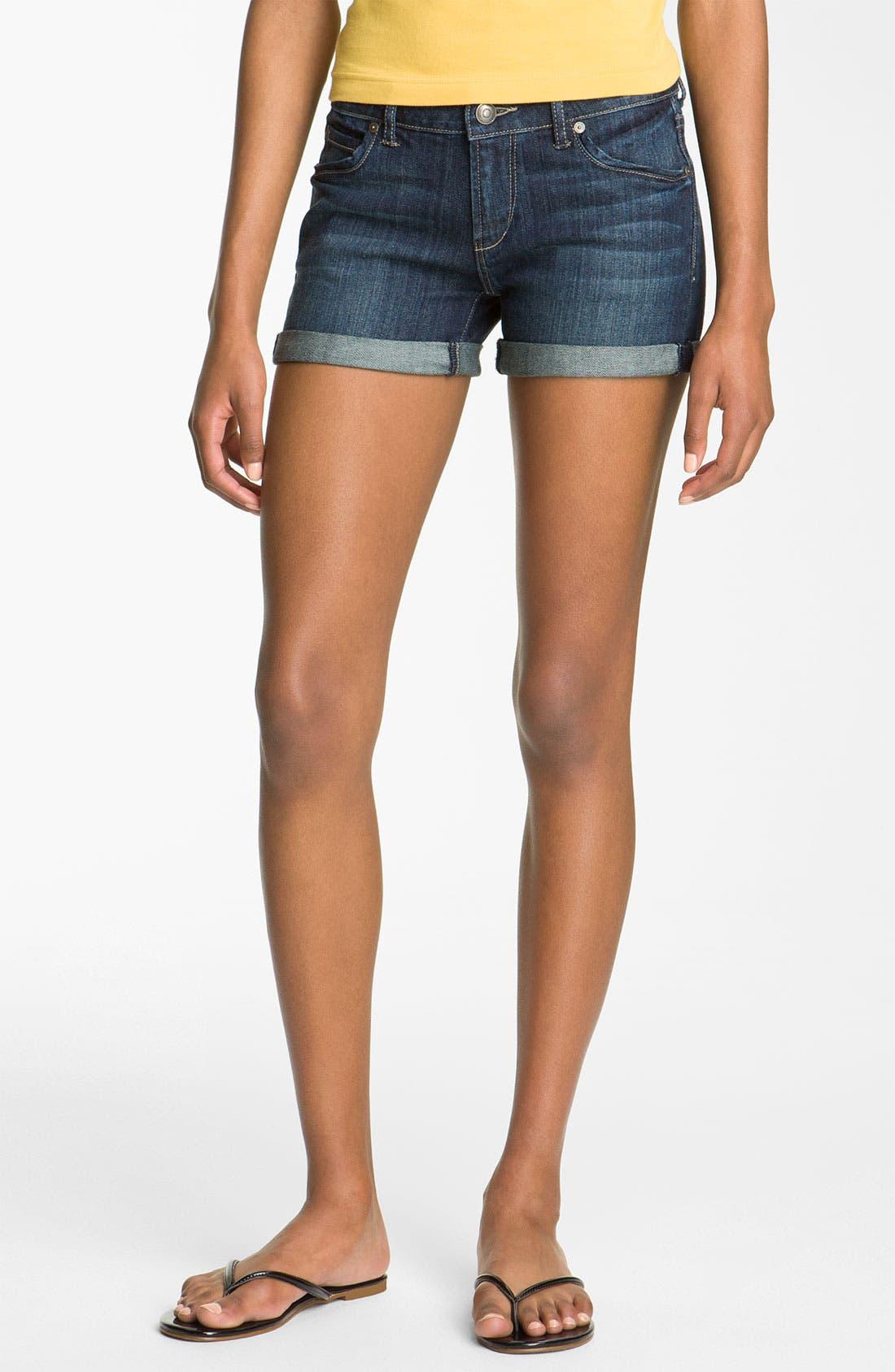 Main Image - Articles of Society 'Kara' Cuff Denim Shorts (Storm) (Juniors)
