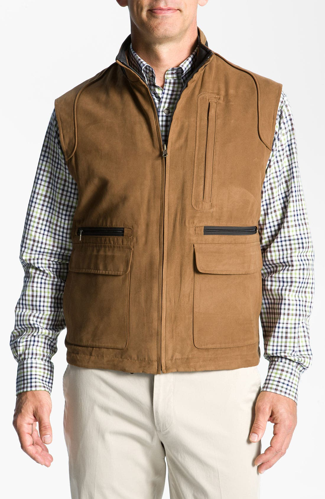 Main Image - Cutter & Buck 'Preston' Reversible Vest (Big & Tall) (Online Exclusive)
