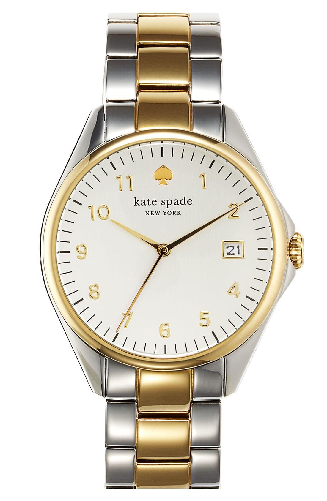 Main Image - kate spade new york 'seaport grand' bracelet watch, 38mm