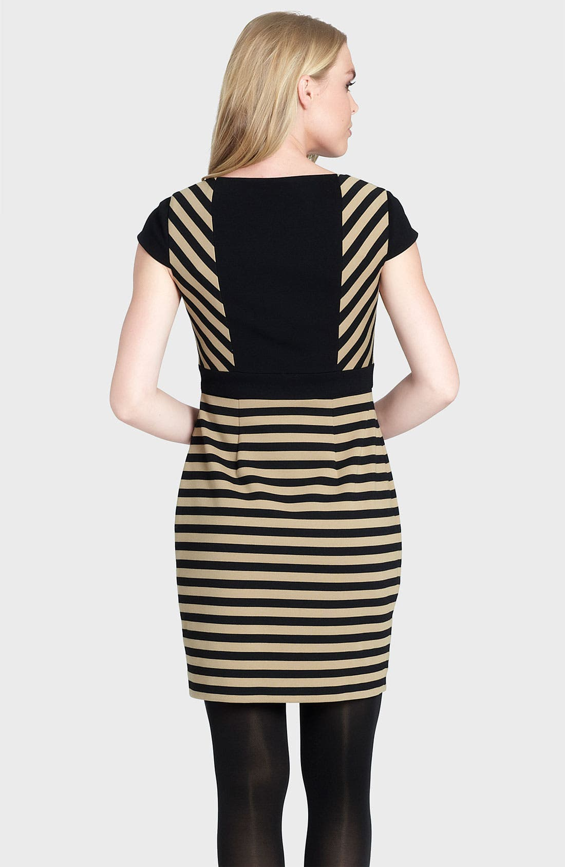 Alternate Image 2  - Cynthia Steffe 'Ramona' Stripe Ponte Sheath Dress