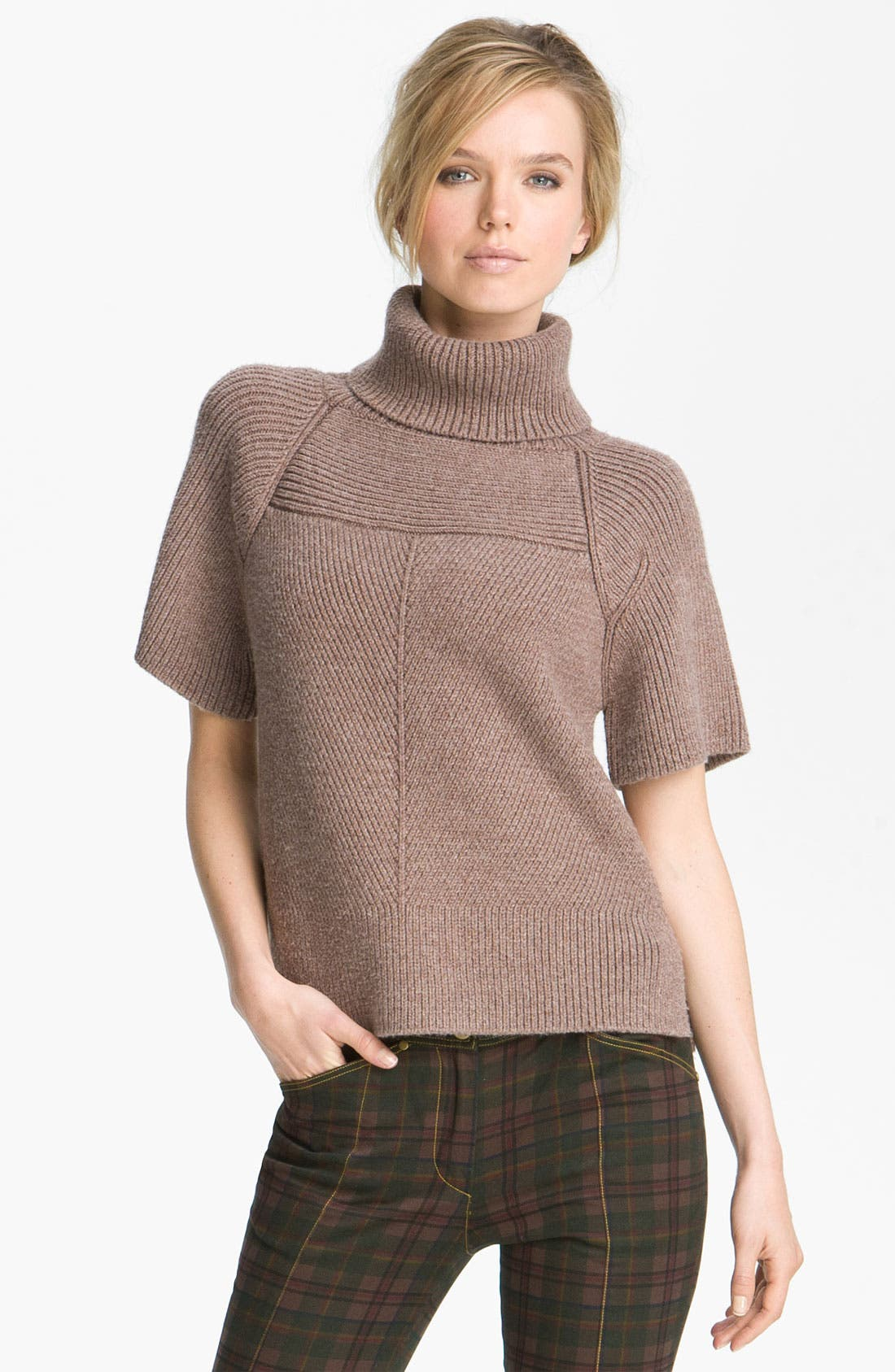 Main Image - Derek Lam 10 Crosby Mixed Rib Turtleneck Sweater