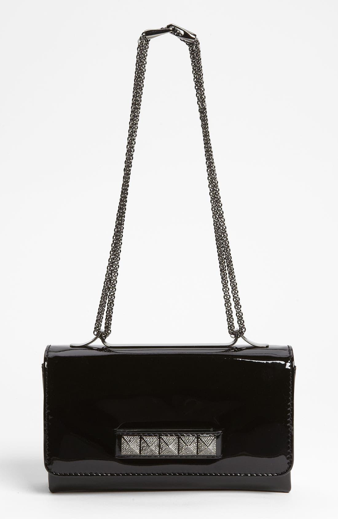 Main Image - Valentino 'Noir - Va Va Voom' Patent Leather Shoulder Bag