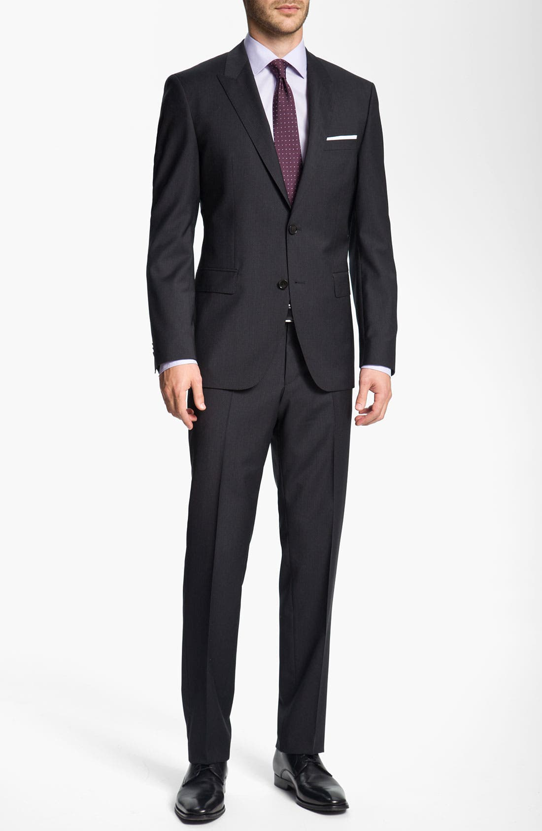 Alternate Image 2  - BOSS Black 'Journey/Sharp' Trim Fit Stripe Suit