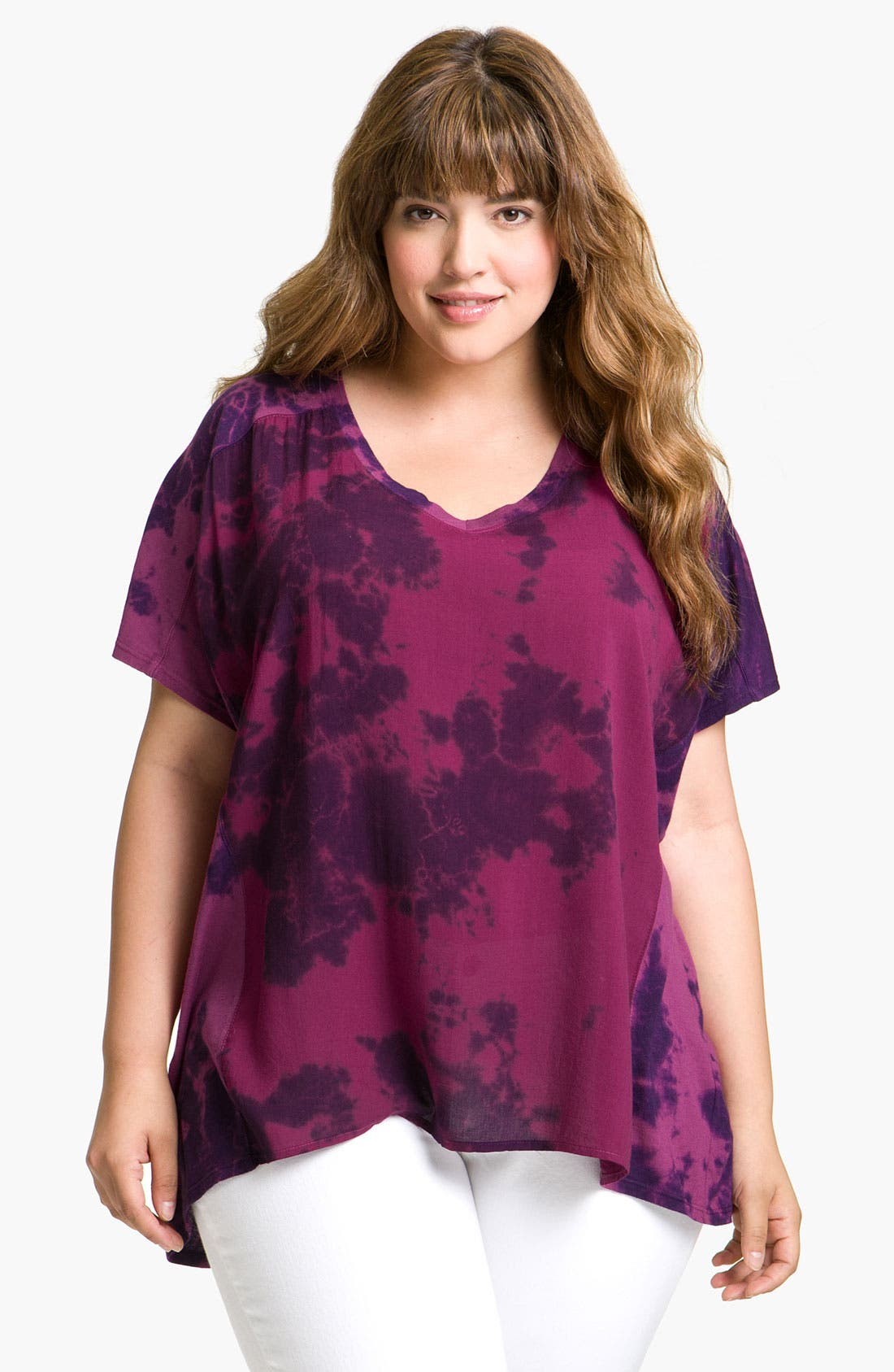 Alternate Image 1 Selected - Splendid Tie Dye Tee (Plus)