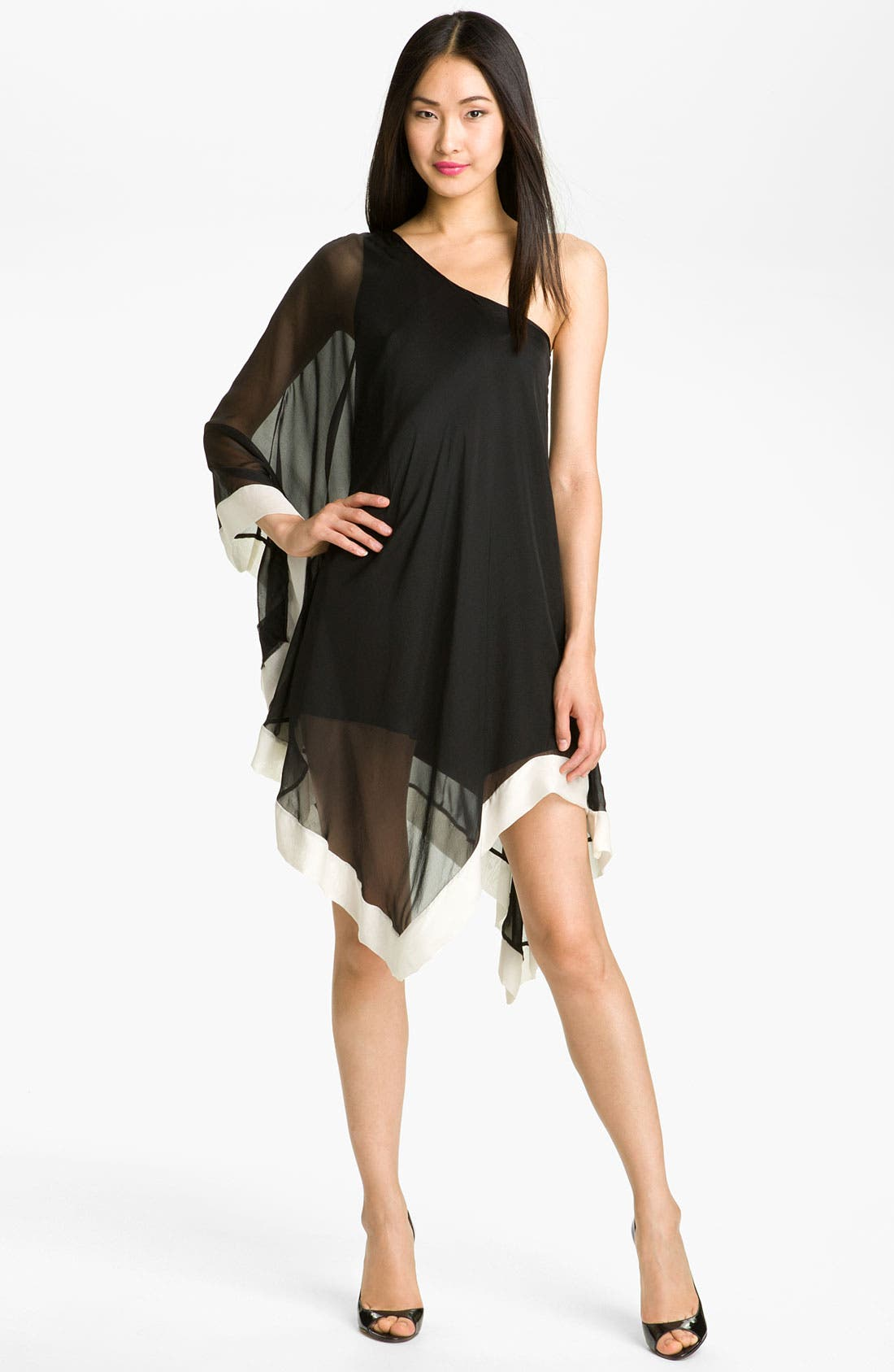 Alternate Image 1 Selected - A.B.S. by Allen Schwartz One Shoulder Silk Dress