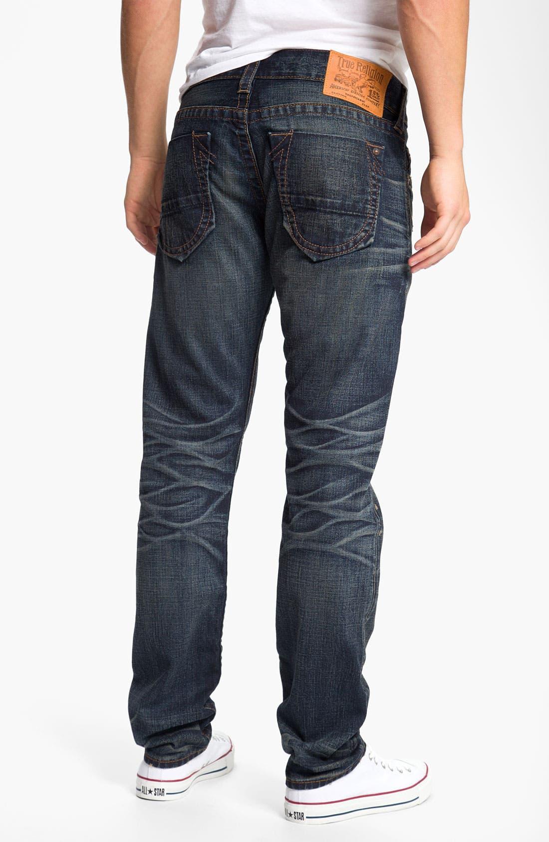 Alternate Image 1 Selected - True Religion Brand Jeans 'Geno' Slim Straight Leg Jeans (Snyper)