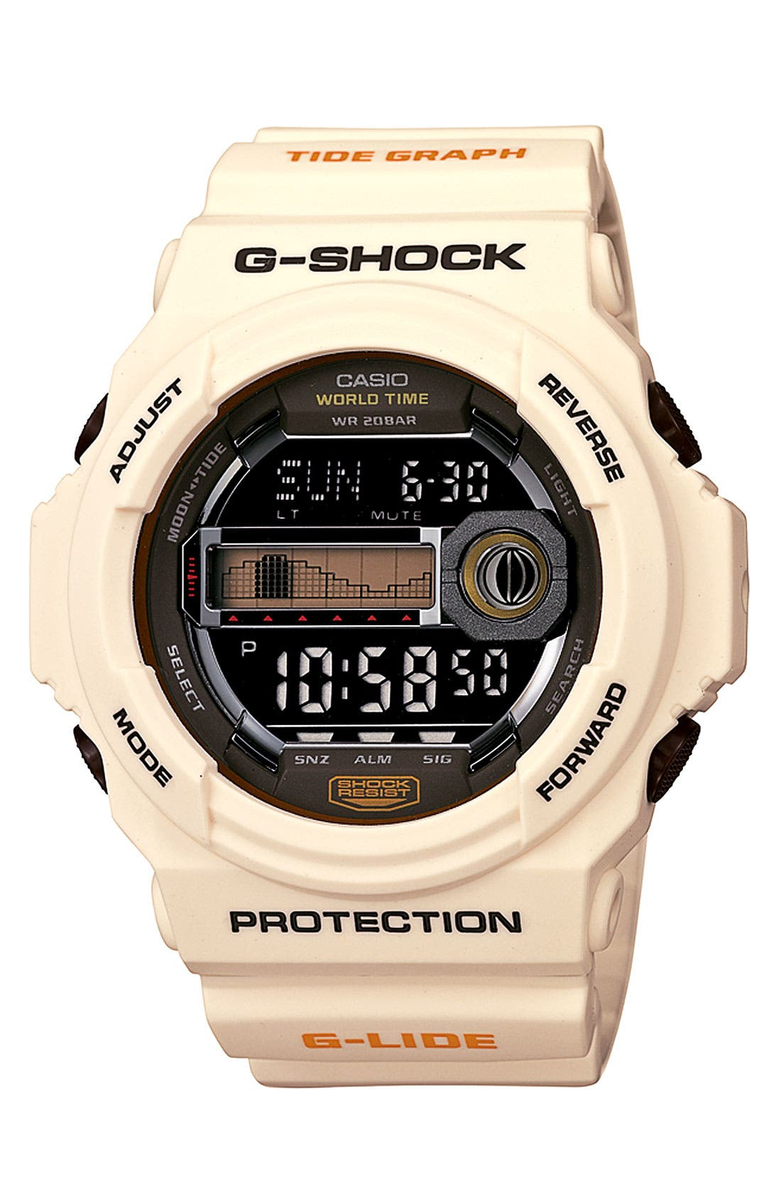 Alternate Image 1 Selected - G-Shock 'Tidegraph' Digital Watch, 55mm x 52mm