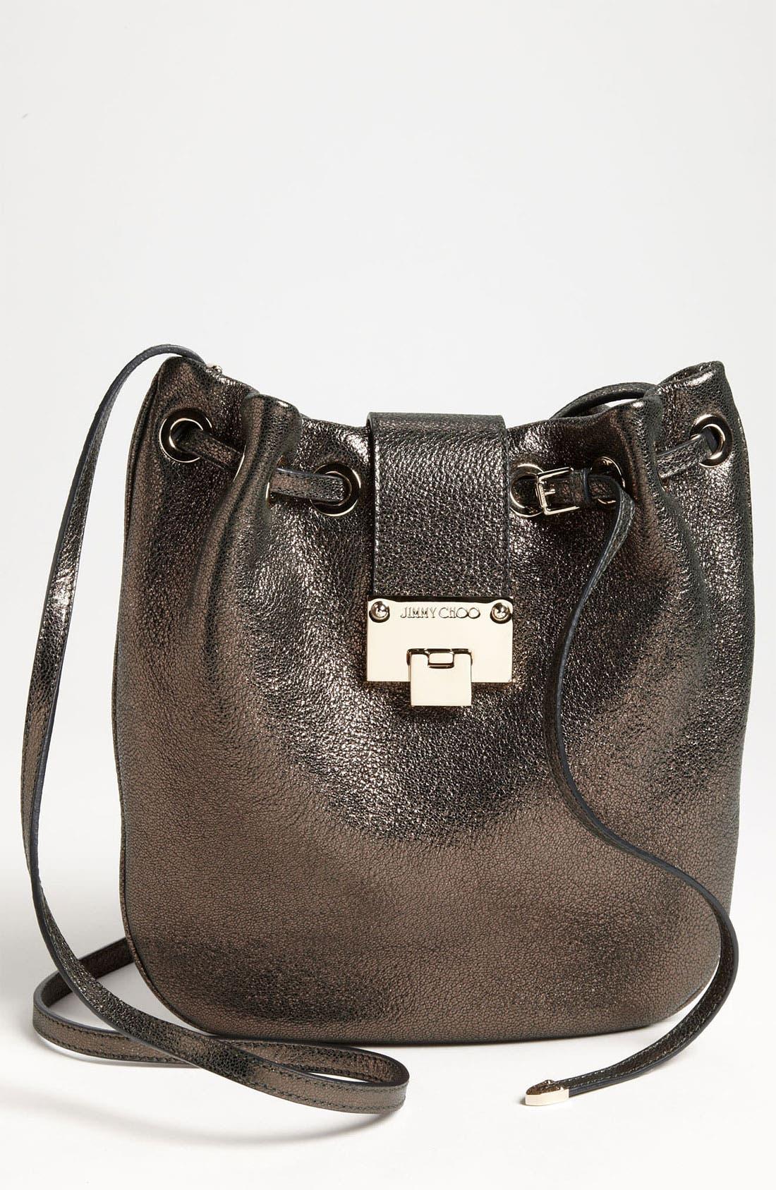 Main Image - Jimmy Choo 'Ryad' Glitter Leather Crossbody Bag