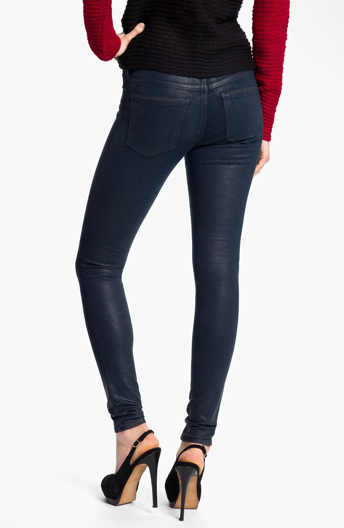 Alternate Image 2  - KUT from the Kloth Coated Skinny Jeans