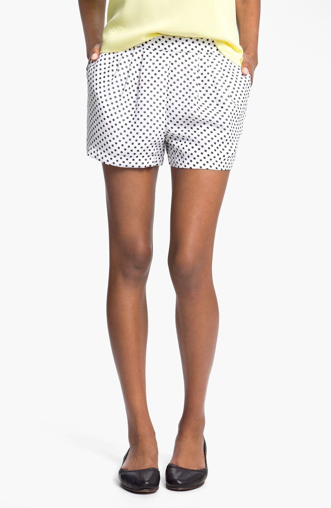 Alternate Image 1 Selected - Mimi Chica Dot Shorts (Juniors)