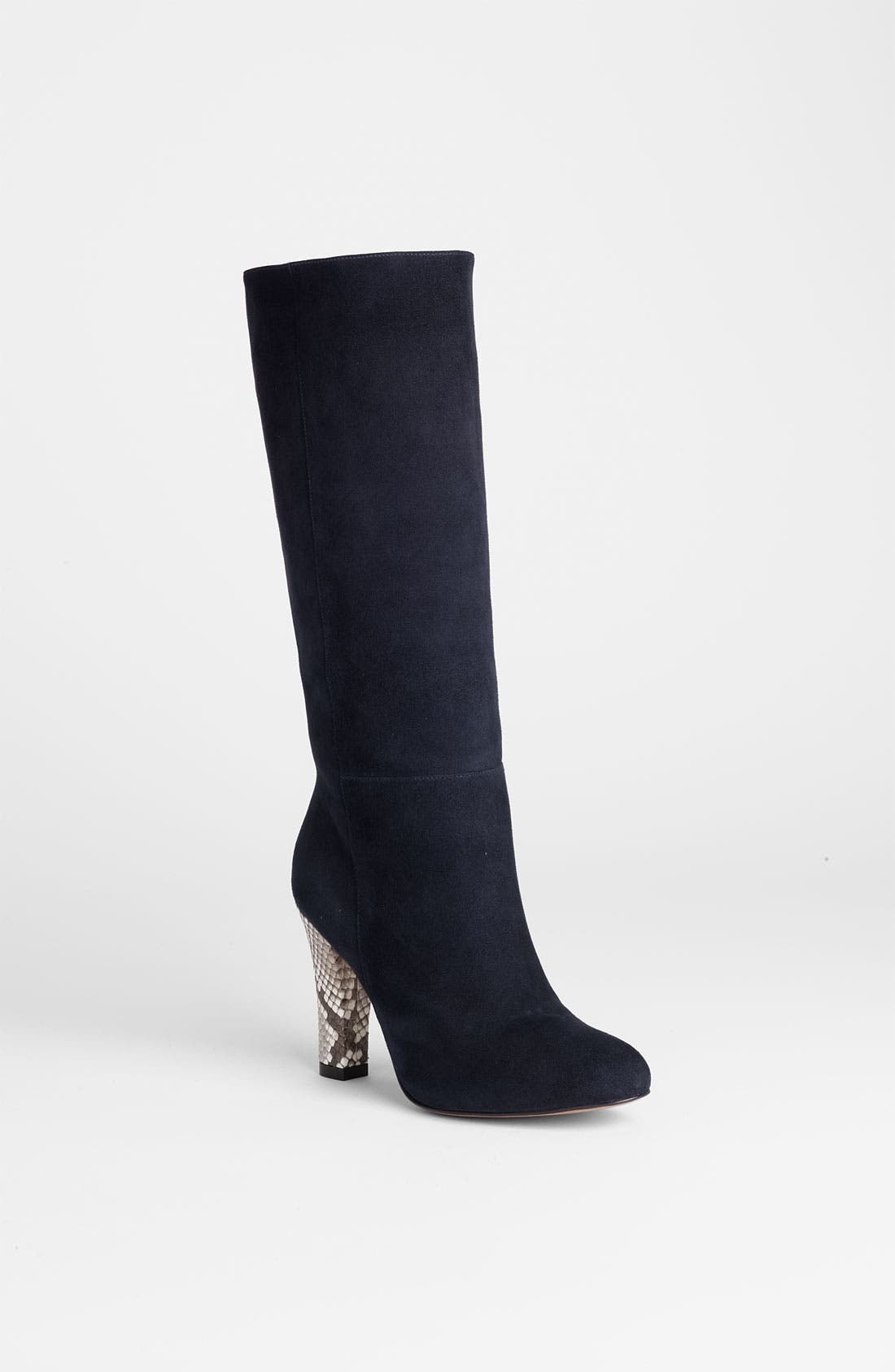 Main Image - Alexandre Birman Suede & Genuine Python Tall Boot