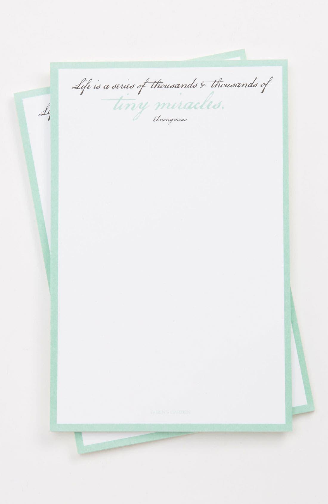 Main Image - Ben's Garden 'Tiny Miracles' Notepads (2-Pack)