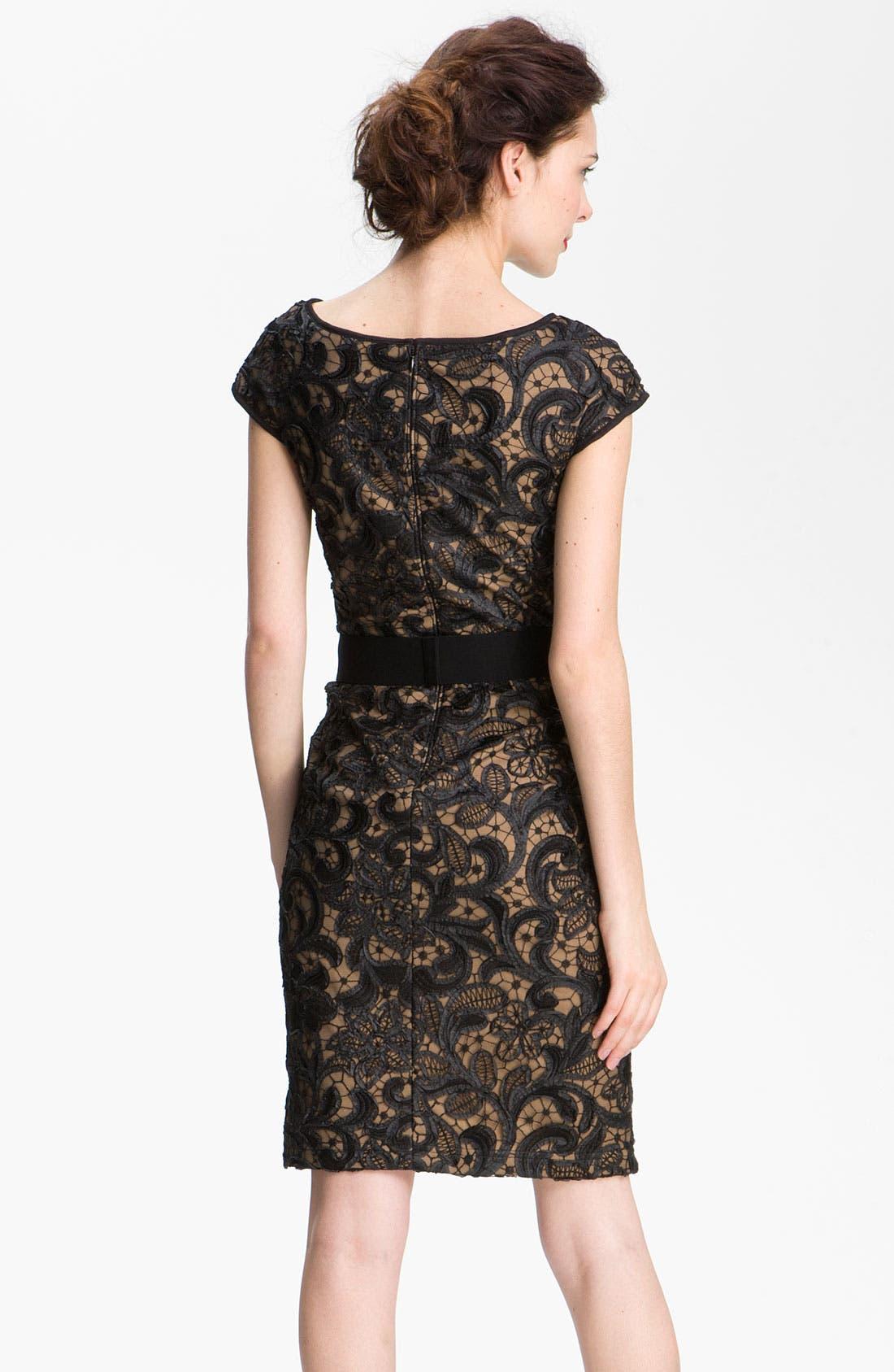 Alternate Image 2  - T by Tadashi Lace Sheath Dress