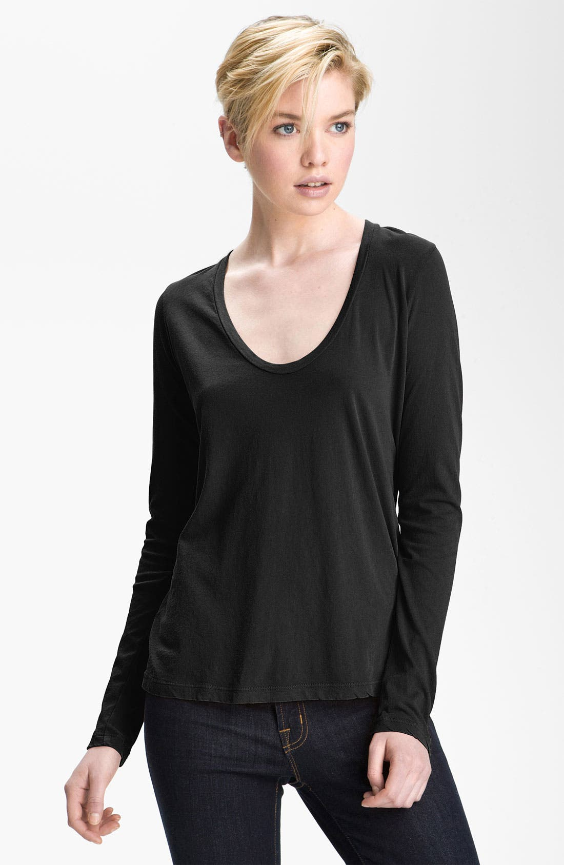 Main Image - James Perse Scoop Neck Tee