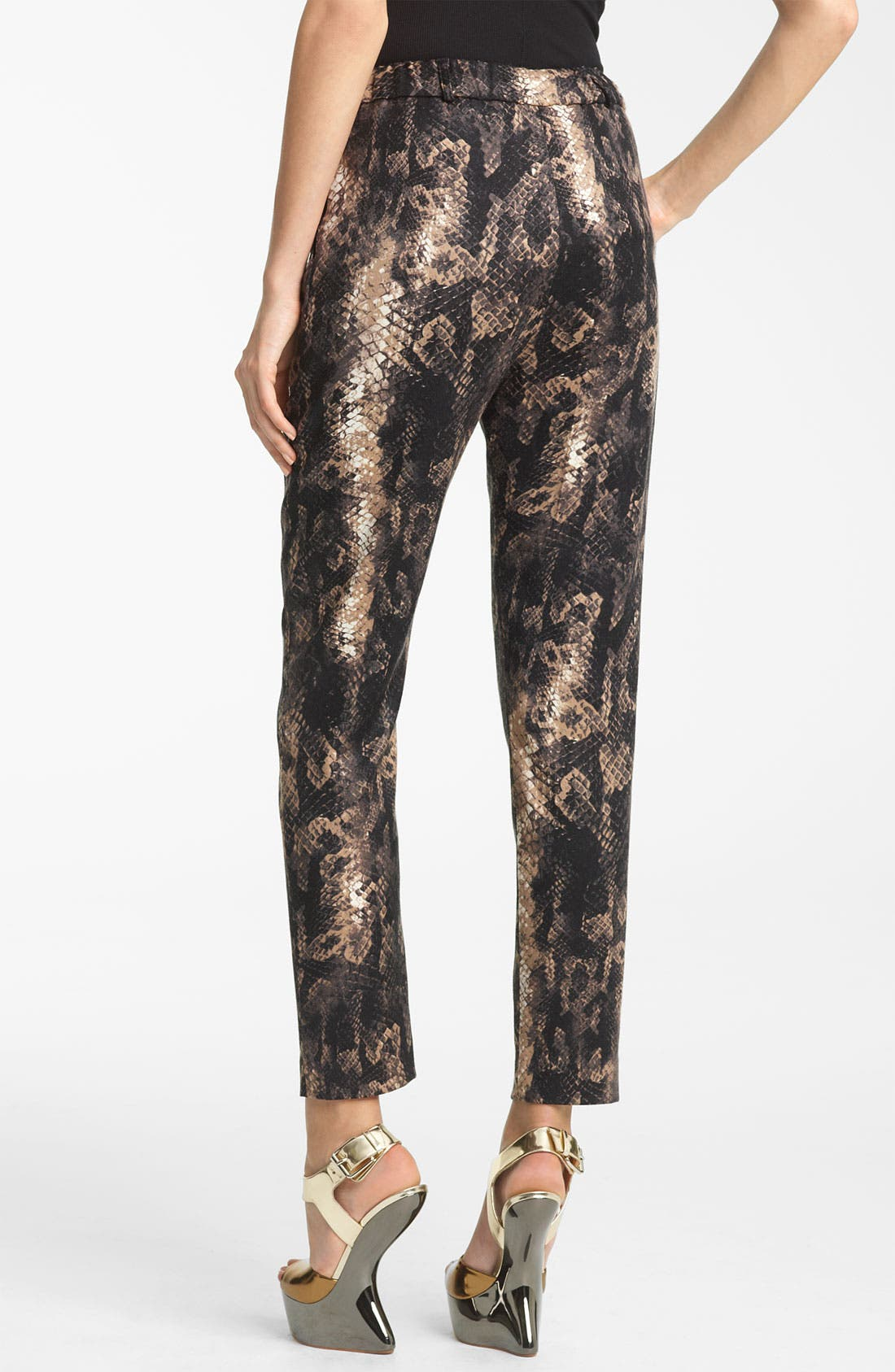 Alternate Image 2  - Yigal Azrouël Python Print Stretch Wool Pants