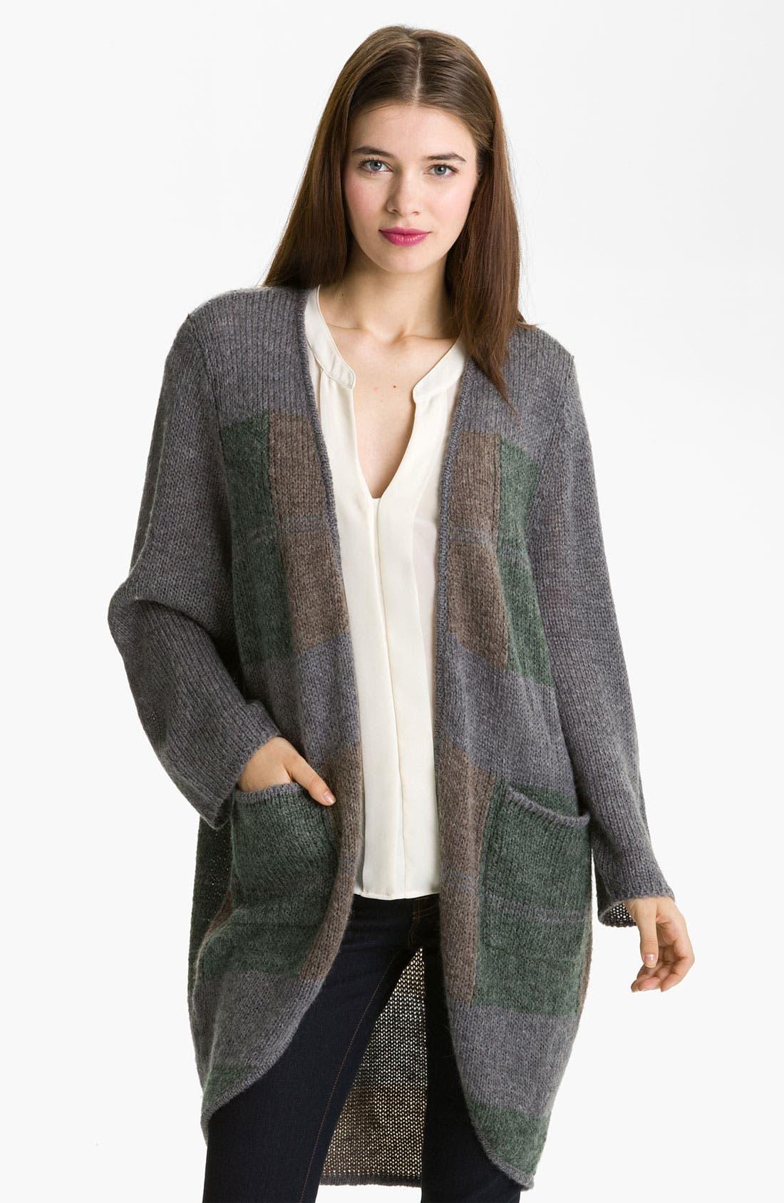 Main Image - Halogen® Patchwork Knit Topper