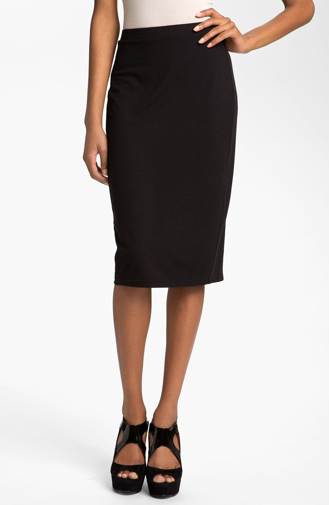 Alternate Image 1 Selected - Trouvé Rib Panel Pencil Skirt