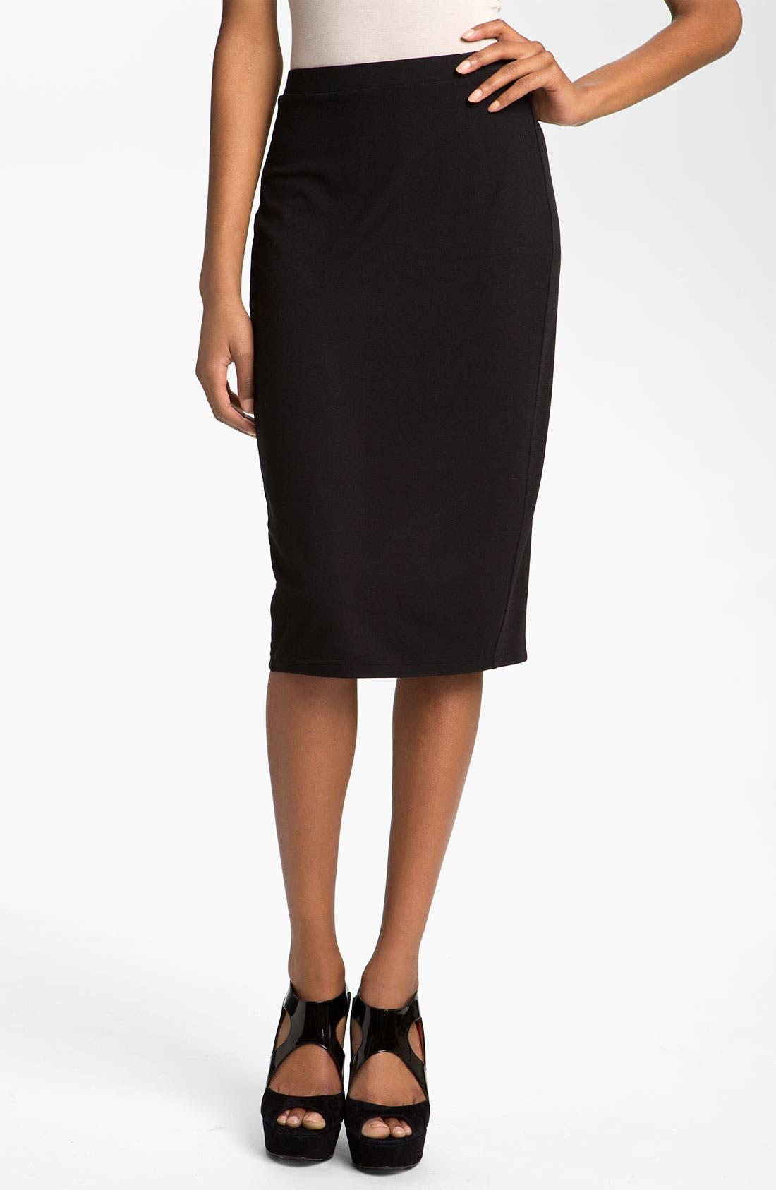 Main Image - Trouvé Rib Panel Pencil Skirt