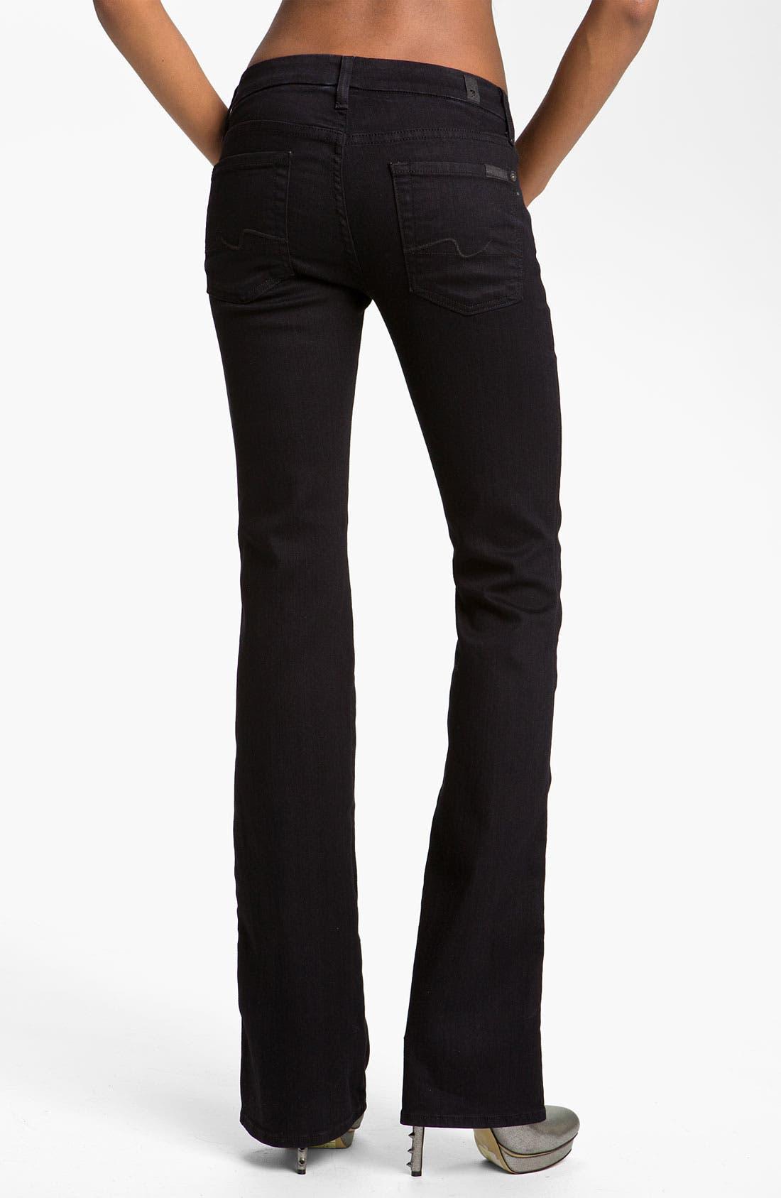 Alternate Image 2  - 7 For All Mankind® 'Kimmie' Straight Leg Jeans (Black Coal)