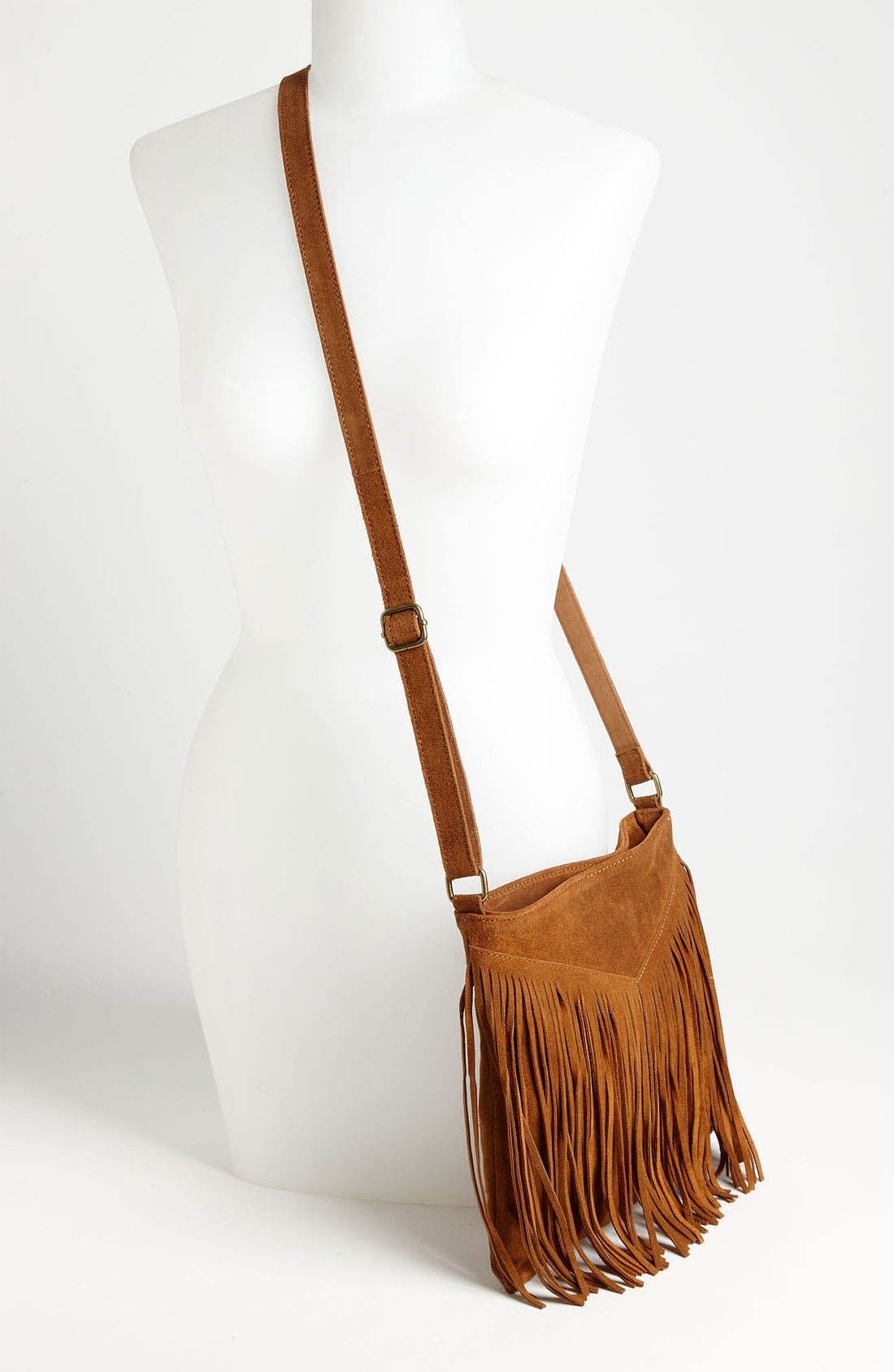 Alternate Image 2  - Steve Madden Fringed Suede Crossbody Bag