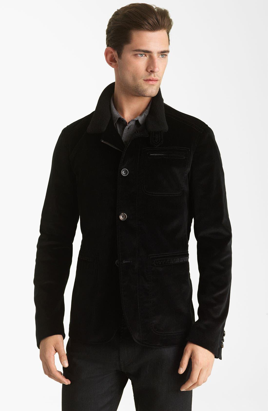 Main Image - Armani Collezioni Velvet Jacket