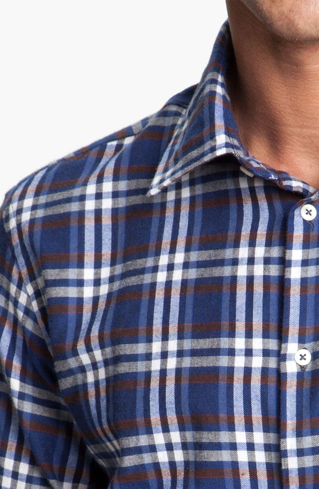 Alternate Image 3  - Mason's Plaid Brushed Cotton Shirt