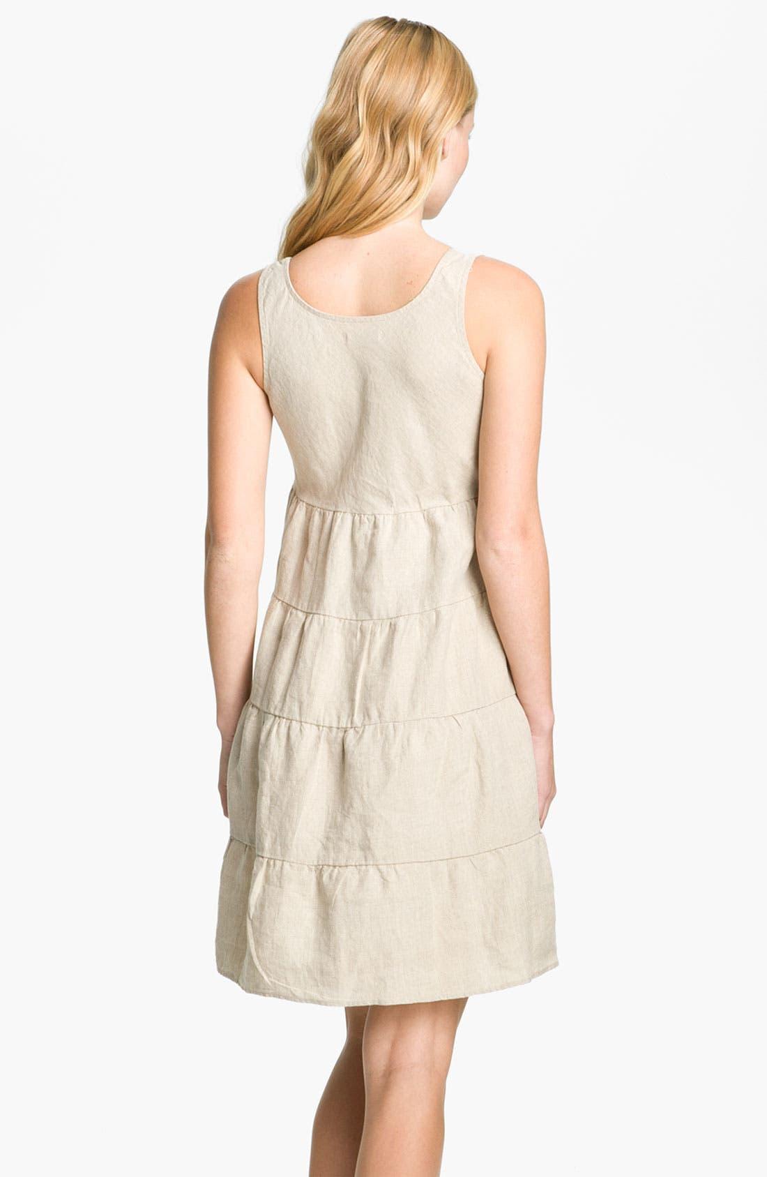 Alternate Image 2  - Allen Allen Linen Dress