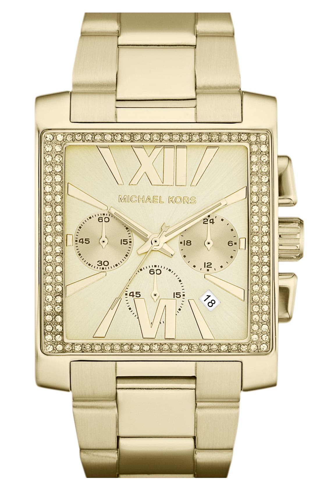 Alternate Image 1 Selected - Michael Kors 'Gia' Chronograph Bracelet Watch