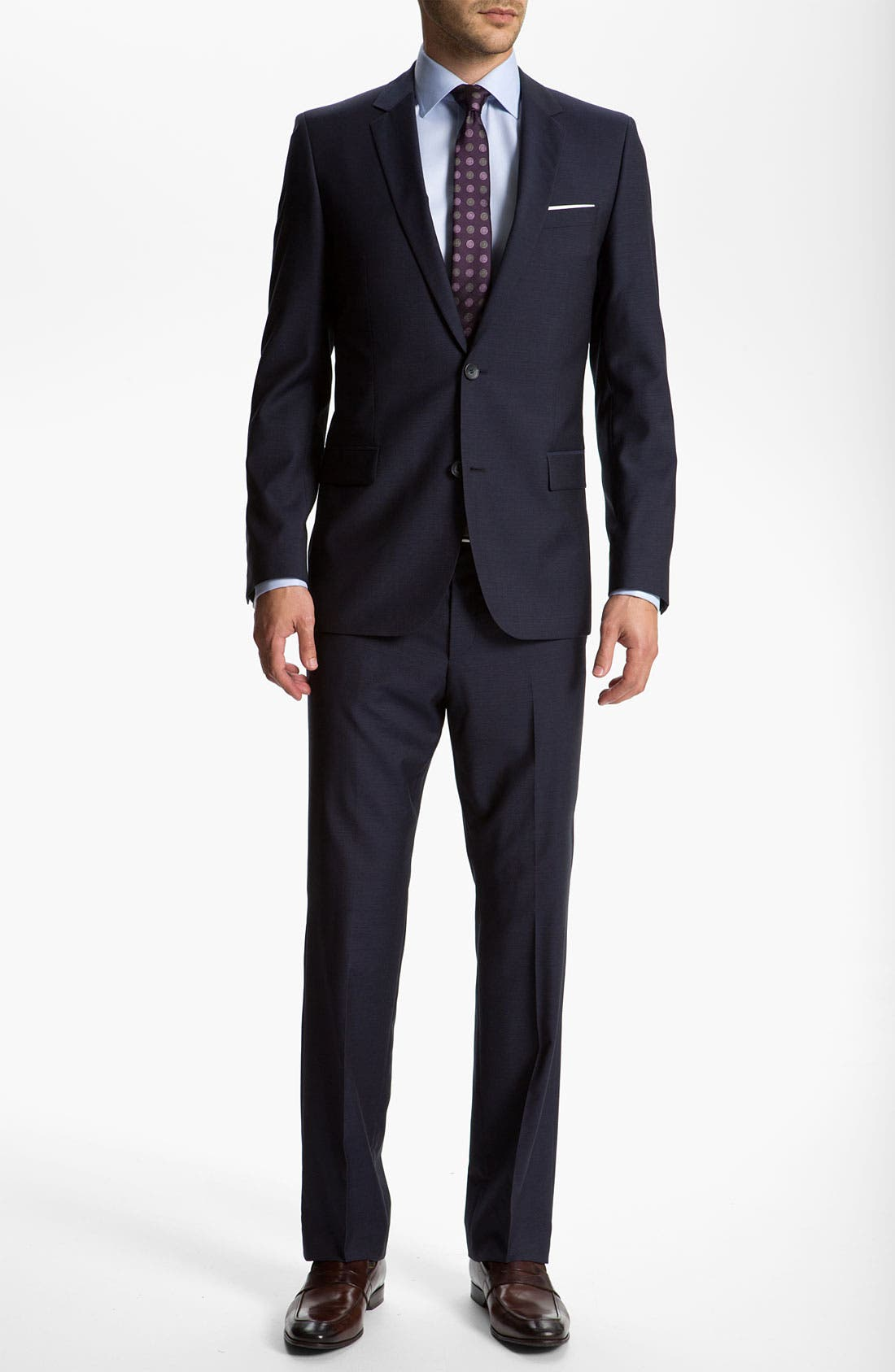 Alternate Image 2  - HUGO 'Astro/Hill' Extra Trim Fit Wool/Mohair Suit