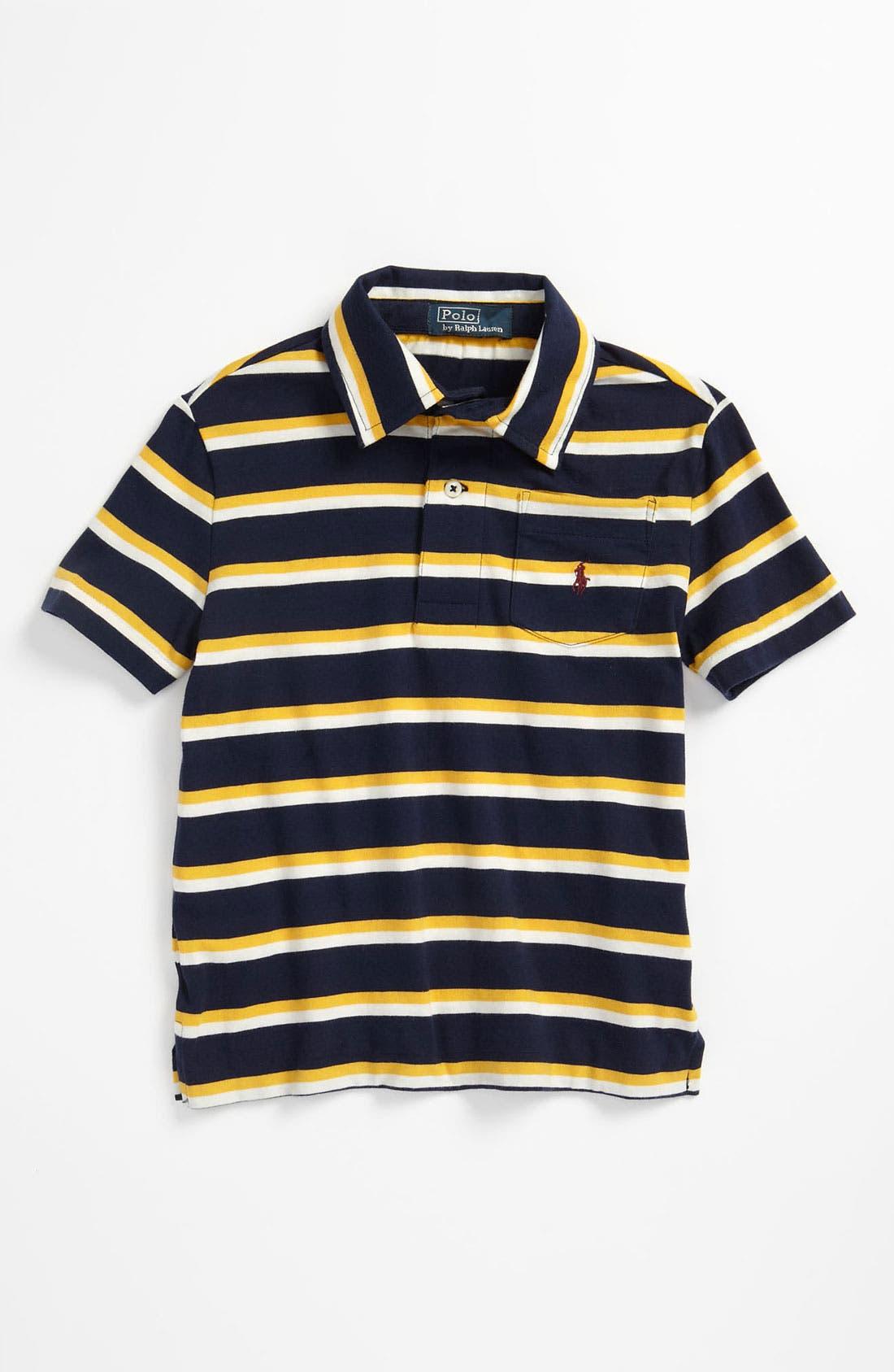 Alternate Image 1 Selected - Ralph Lauren Jersey Polo (Toddler)