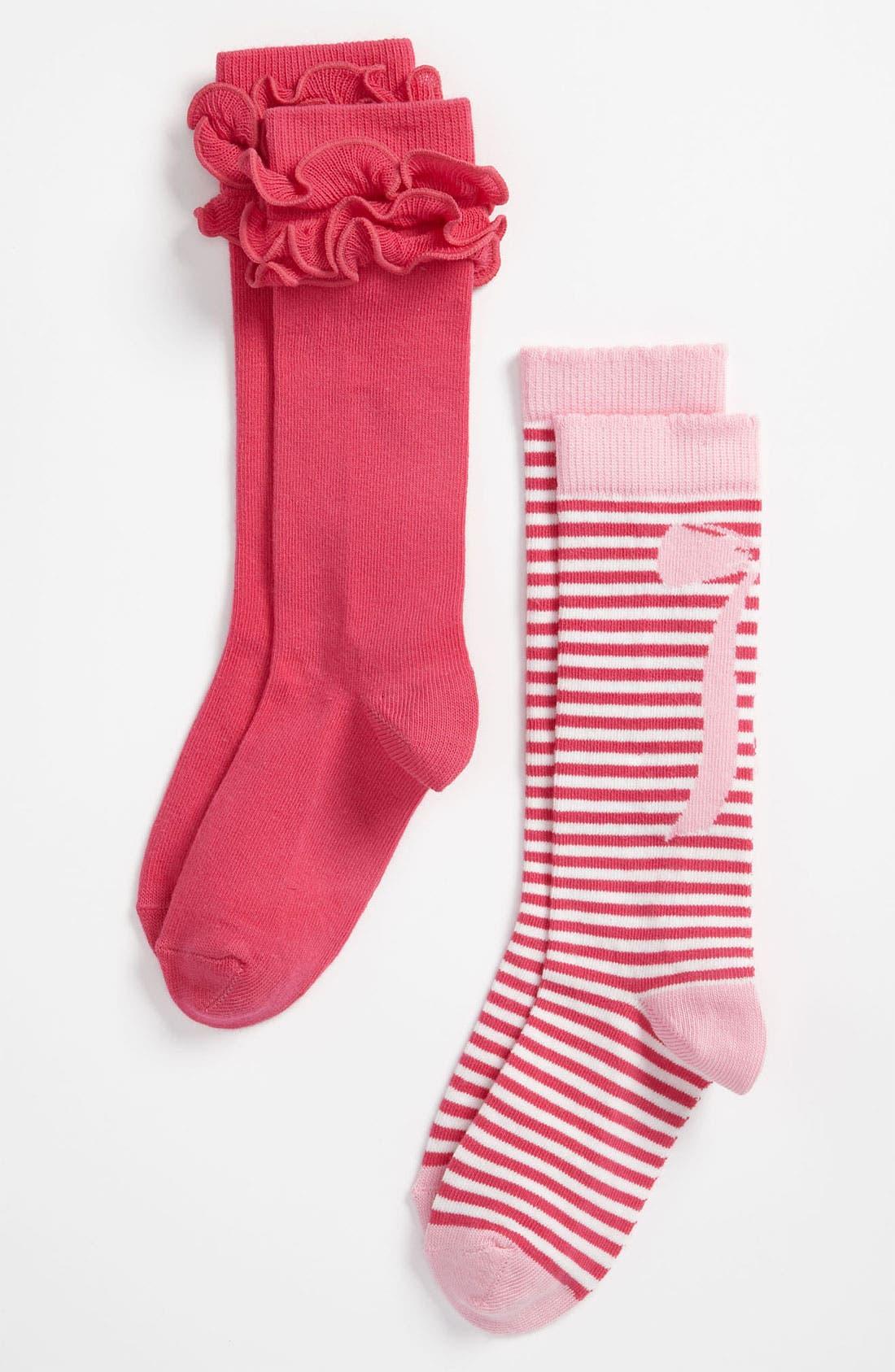 Alternate Image 1 Selected - Nordstrom Knee High Socks (2-Pack) (Toddler, Little Girls & Big Girls)