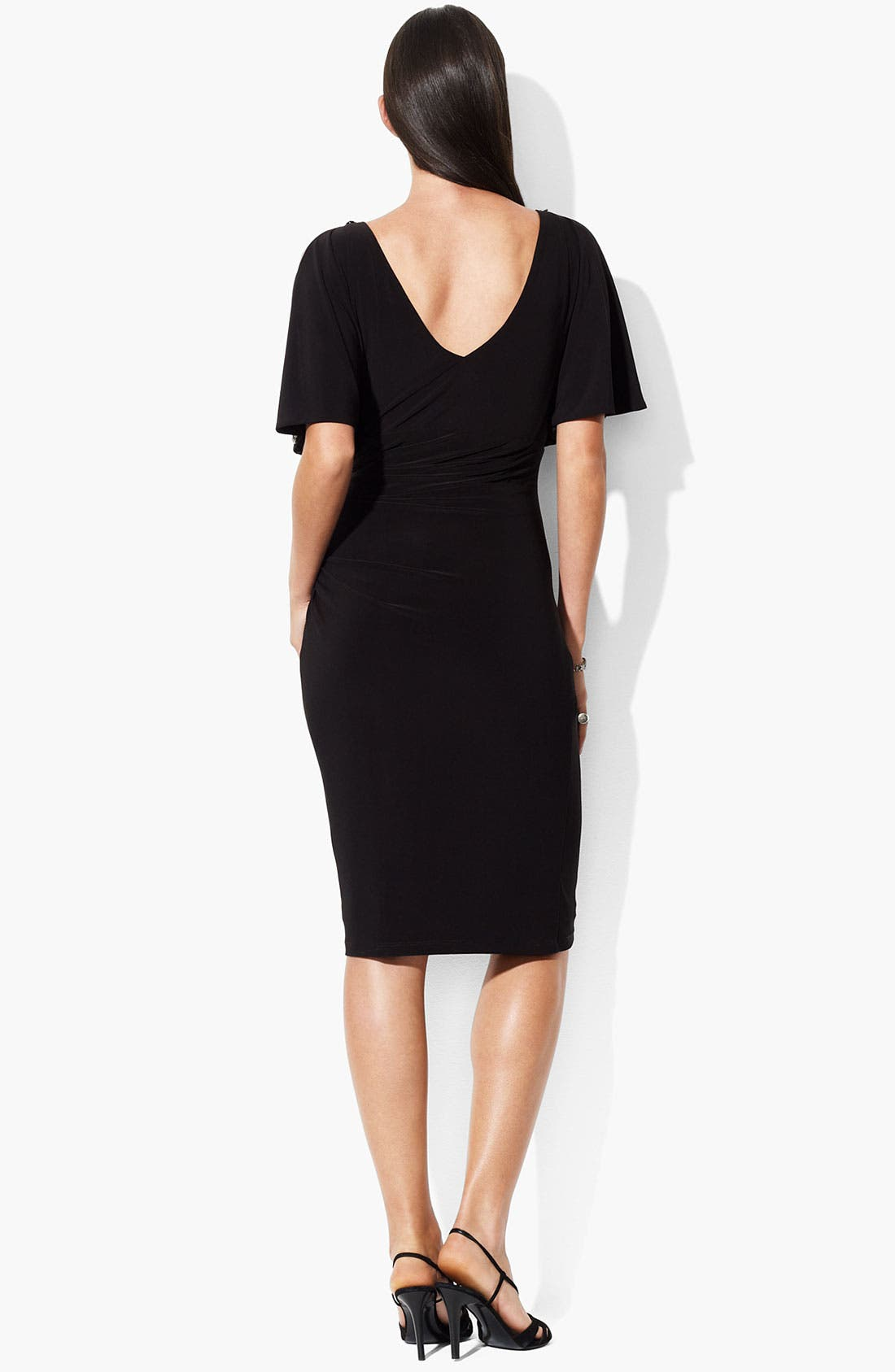 Alternate Image 2  - Lauren Ralph Lauren Embellished Split Sleeve Jersey Dress