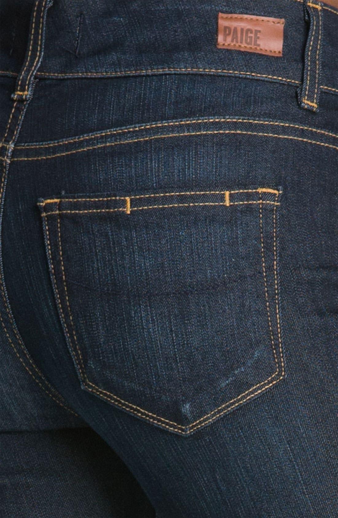 Alternate Image 3  - PAIGE 'Hidden Hills' High Rise Bootcut Stretch Jeans (Stream)