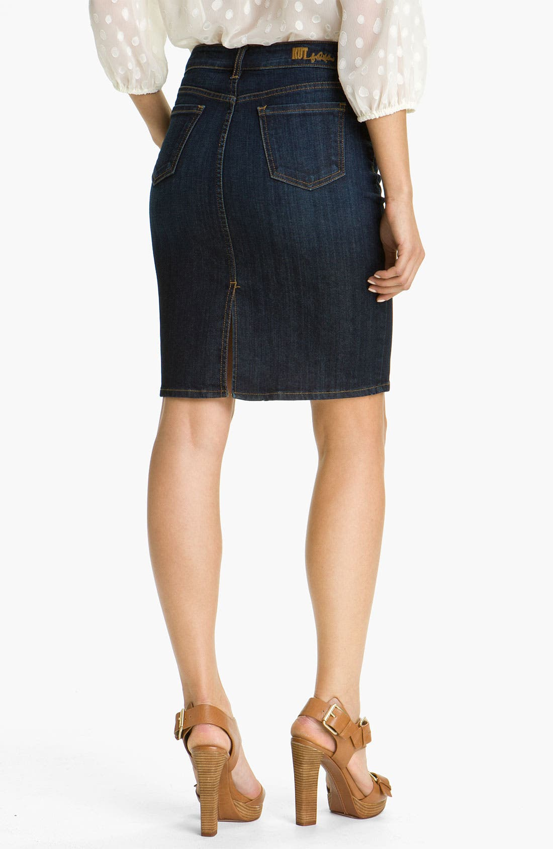 Alternate Image 2  - KUT from the Kloth Denim Skirt
