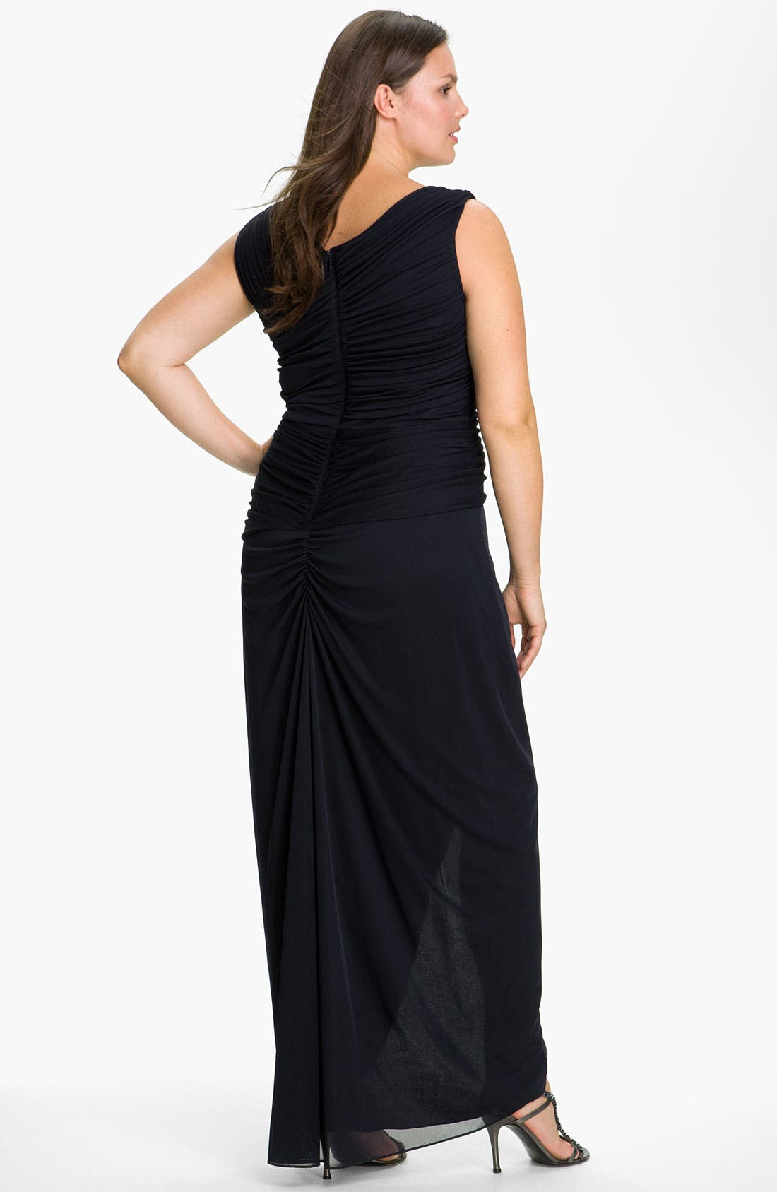 Alternate Image 2  - Adrianna Papell 'Bouach' Ruched Gown (Plus)