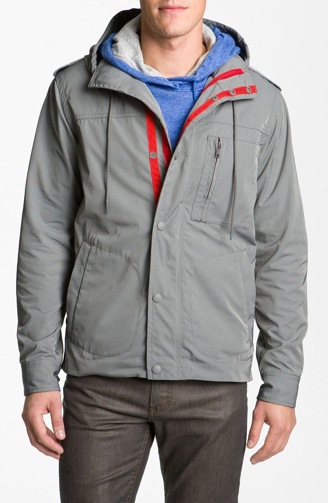 Techno Gabardine Jacket,                         Main,                         color, Lead