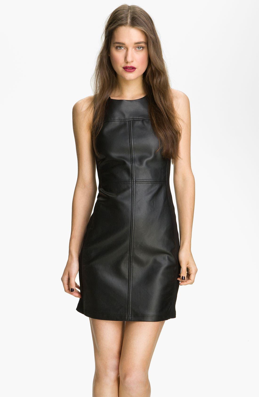 Main Image - Sanctuary Faux Leather Shift Dress