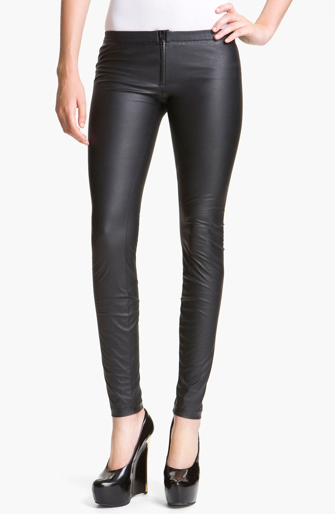 Alternate Image 1 Selected - Theyskens' Theory 'Pittell Finap' Faux Leather Leggings