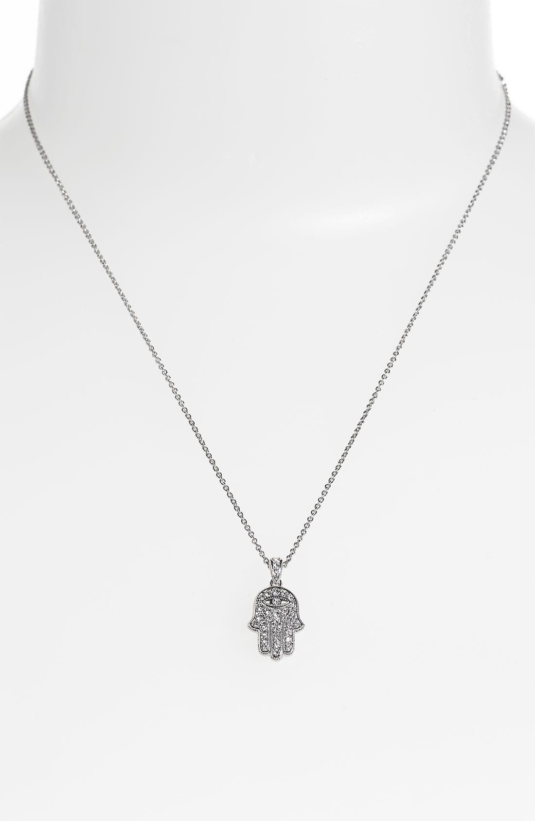 Alternate Image 2  - Nadri Hamsa Pendant Necklace (Nordstrom Exclusive)