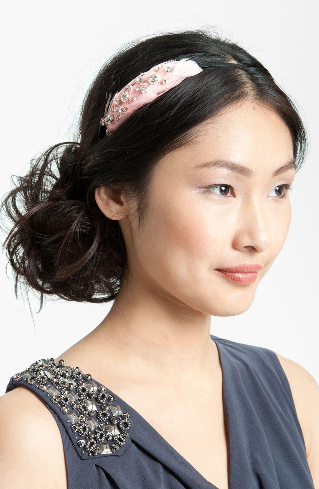 Main Image - Tasha 'Floating Crystal Feather' Headband